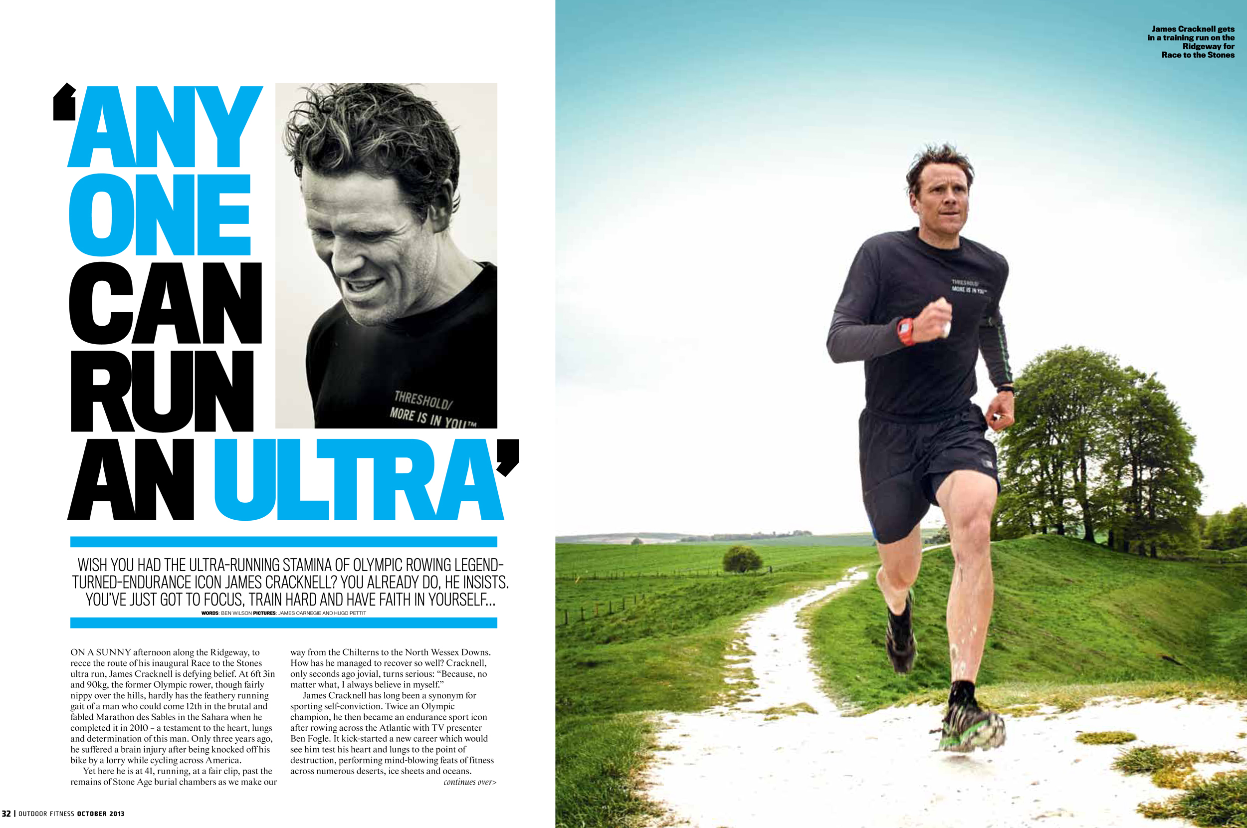 Race to the Stones feature for outdoor fitness magazine