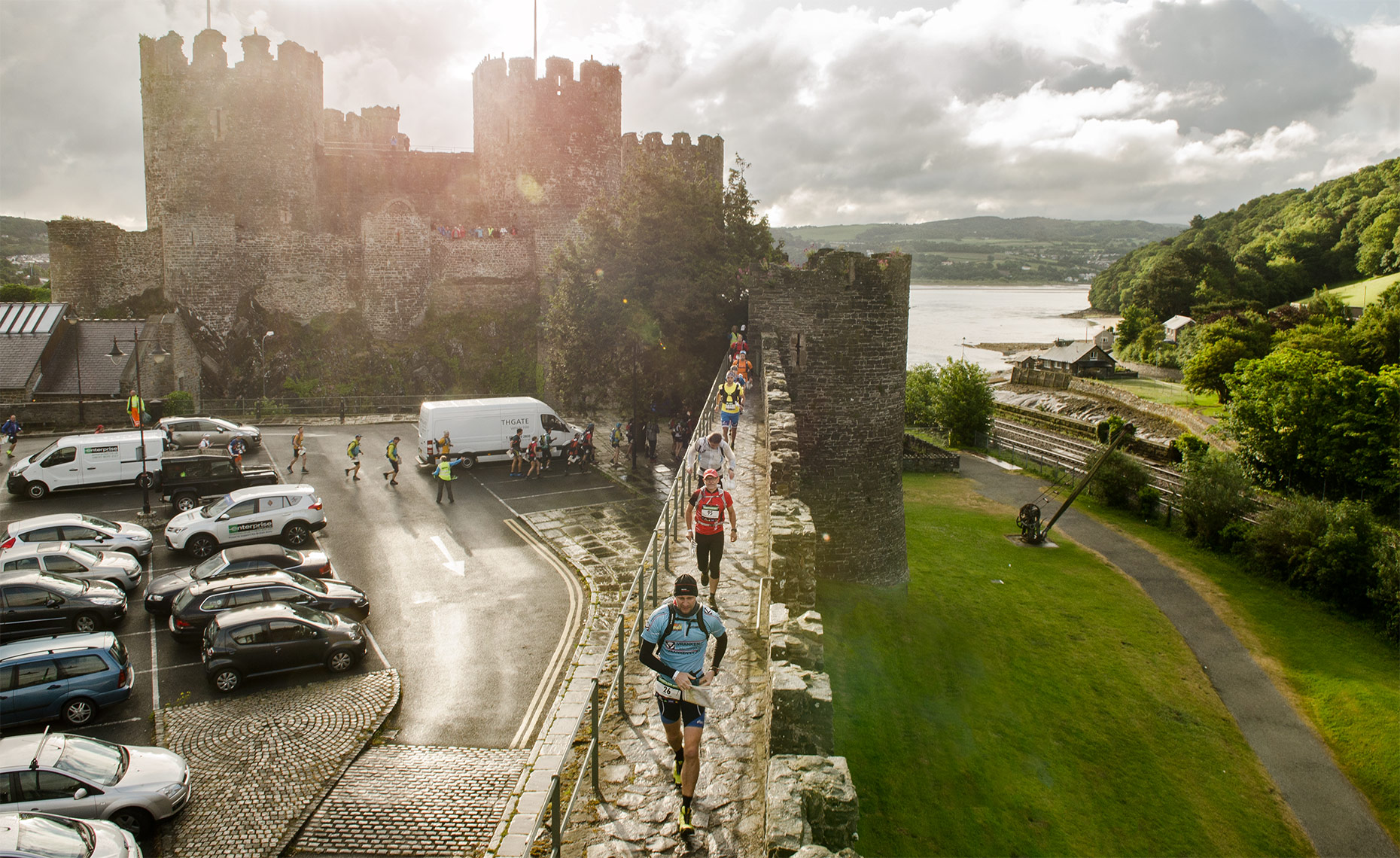 Conwy Castle departure, Day 1