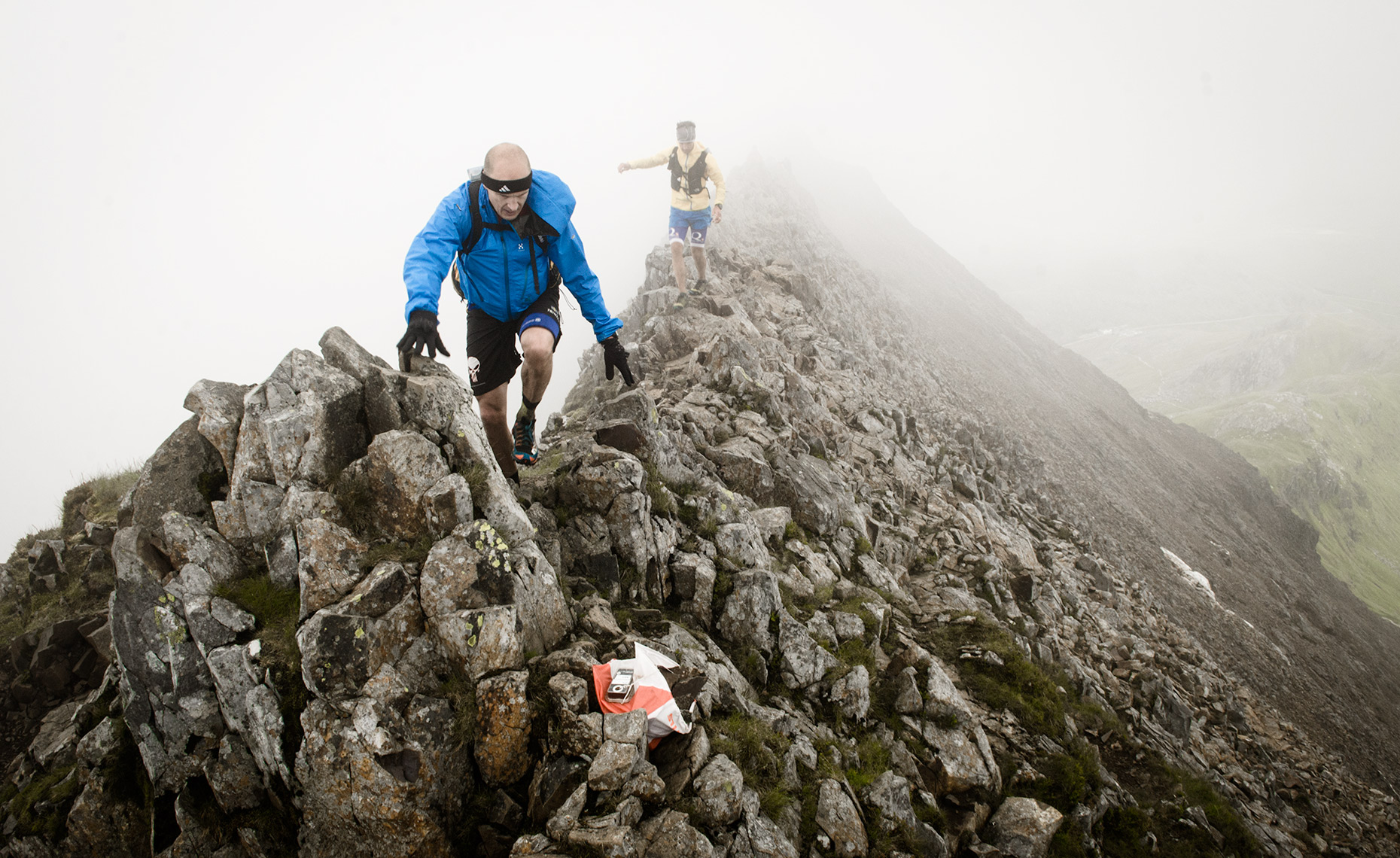 Checkpoint high on Crib Goch