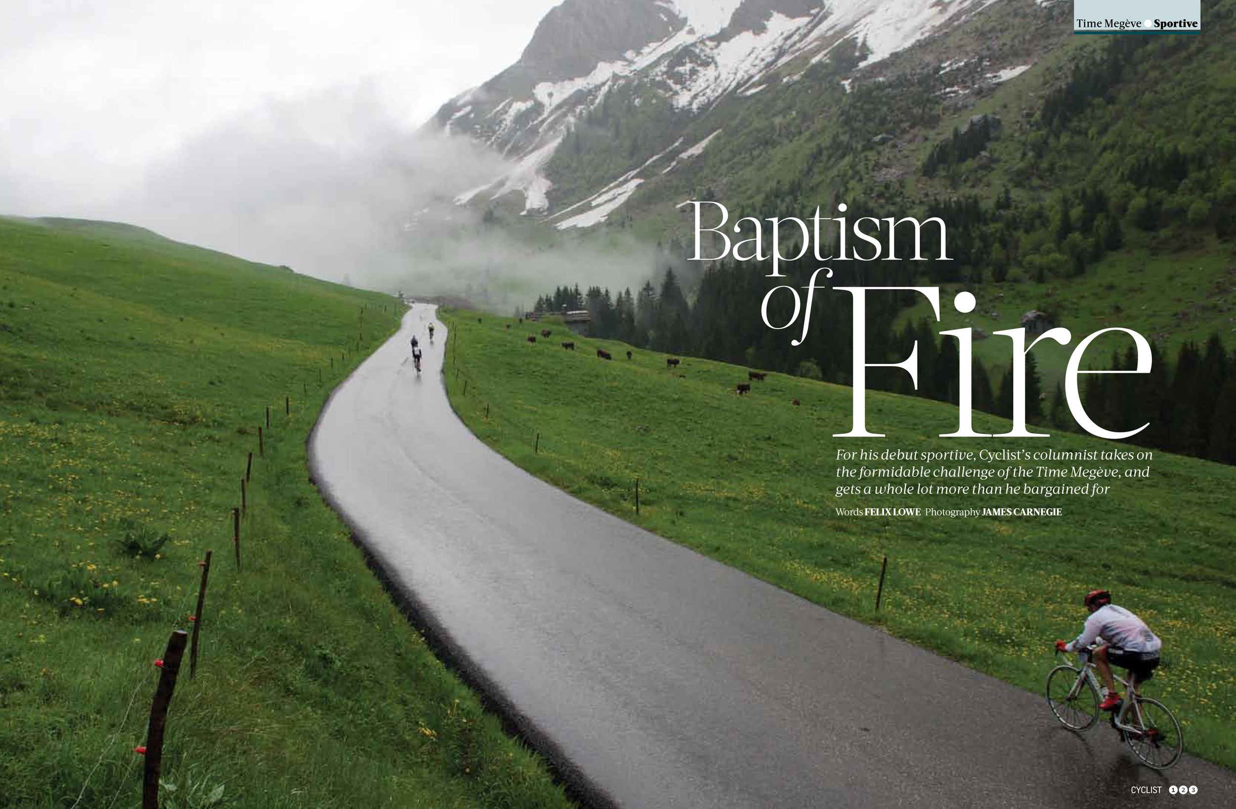 Baptism of Fire article, cyclist magazine