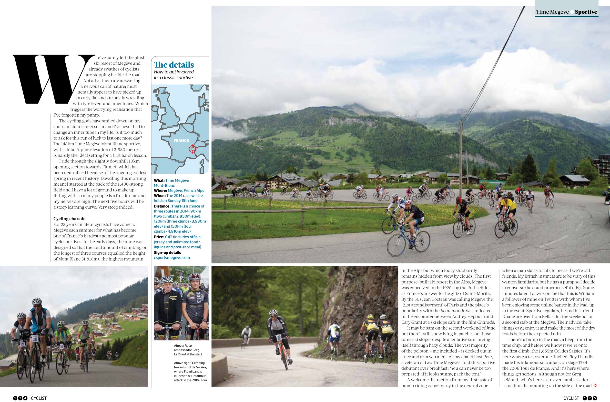 Baptism of Fire article II, cyclist magazine