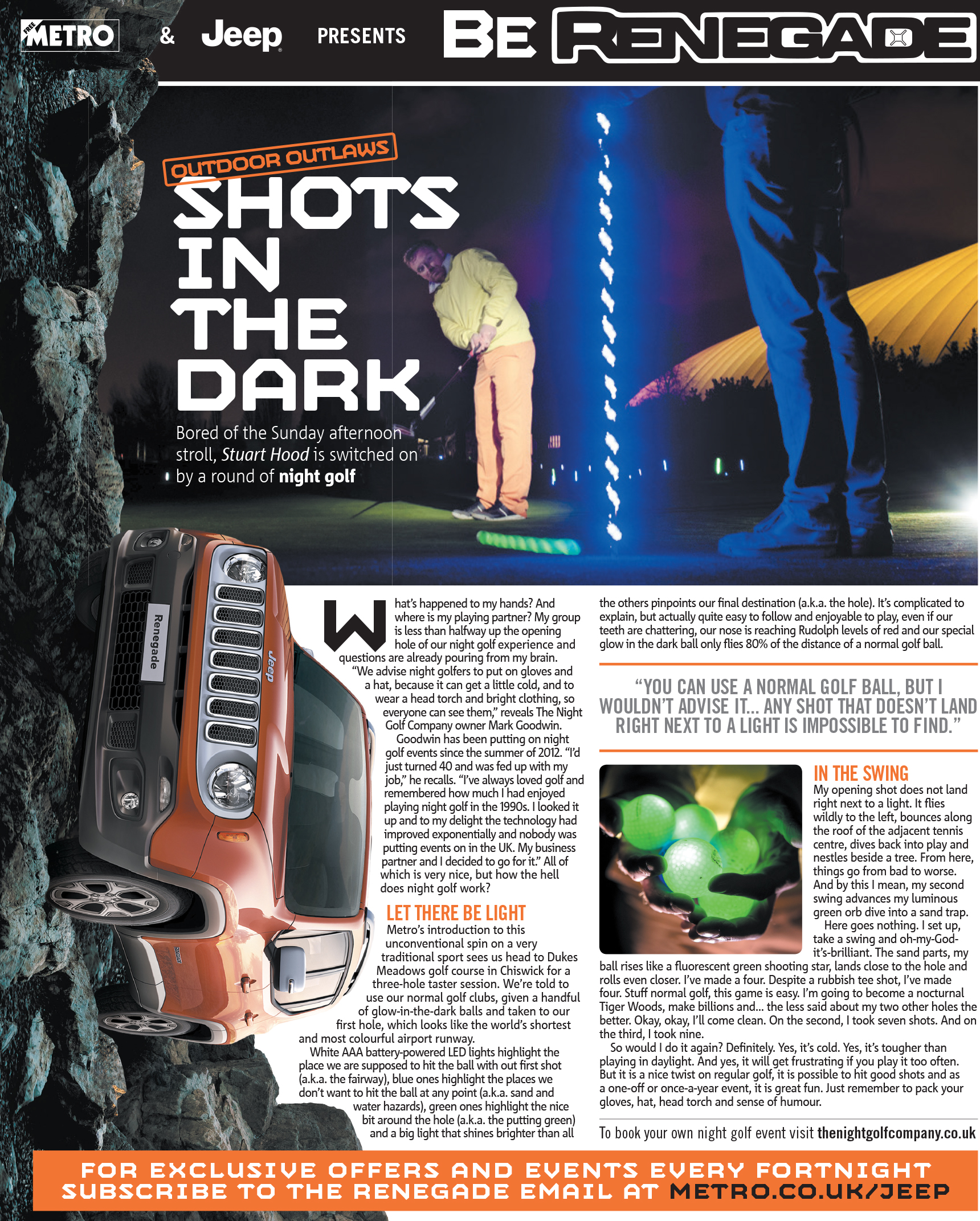 Jeep Renegade Night Golf Feature for Metro